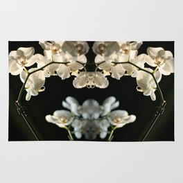 Orchid flowers Rug