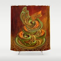 cake Shower Curtains featuring Swirly cake by Giada Rossi