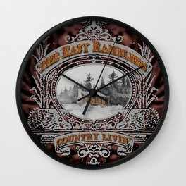 Country Livin' Wall Clock