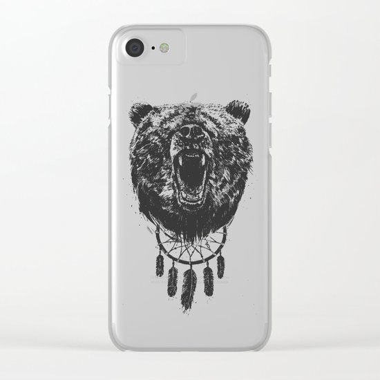 Don't wake the bear Clear iPhone Case