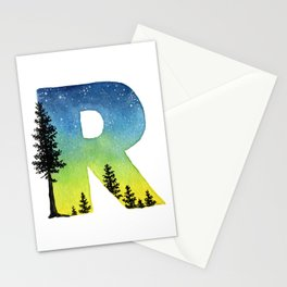 Galaxy Alphabet Series: R Stationery Cards