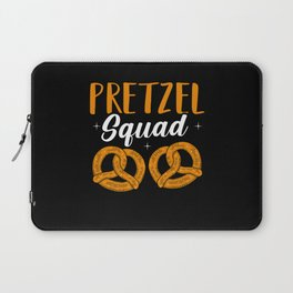 Pretzels and Squad National Pretzel Day Laptop Sleeve