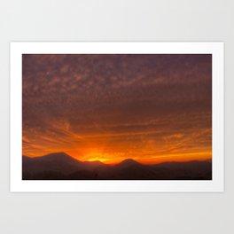 Smoky Mountain Sunset #2 Art Print