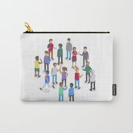 isometric people Carry-All Pouch