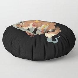 Fire Fox Ukiyo-e Floor Pillow