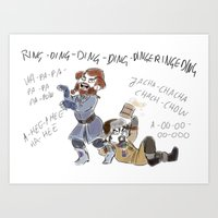 nori Art Prints featuring What does Nori say by BlueSparkle