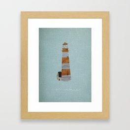 lighthouse. Framed Art Print