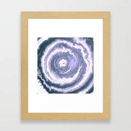 Slate Blue Agate Framed Art Print