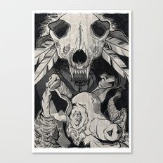 Little Pig, Let Me In Canvas Print