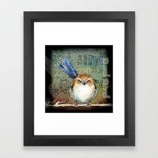 Bad bird Framed Art Print