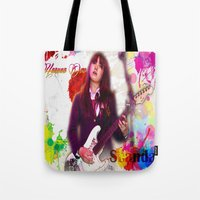 scandal Tote Bags featuring Scandal Baby by Don Kuing