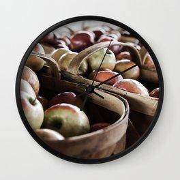 Market Day - Apples Wall Clock