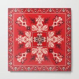 Russian pattern Metal Print