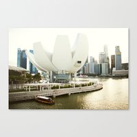 singapore Canvas Prints featuring Singapore by Jeremiah Wilson