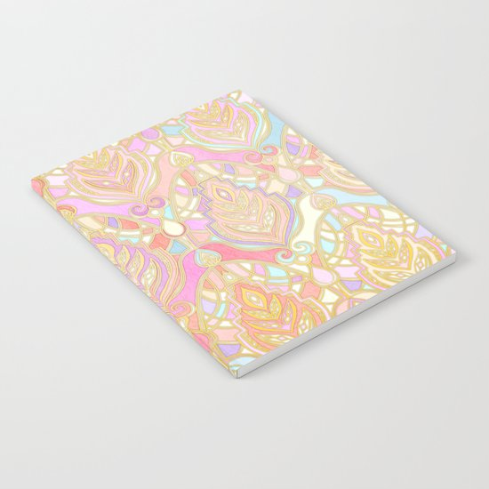 Rosy Opalescent Art Deco Pattern Notebook