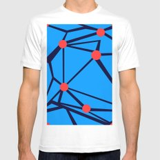 3 Red Dots White MEDIUM Mens Fitted Tee