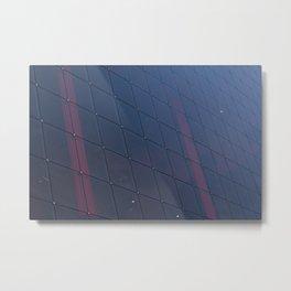 Square glass windows Metal Print