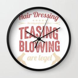 Hair Dressing Coiffurist Hair Stylist Hair Cut Beauty Salon Beautician Gifts Wall Clock