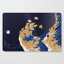 Shiba Inu The Great Wave in Night Cutting Board