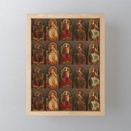 "Sandro Botticelli and Piero del Pollaiolo ""Theological and cardinal virtues"" Framed Mini Art Print"