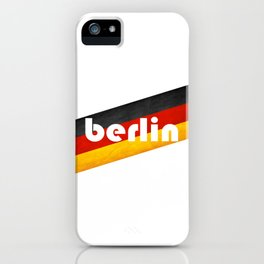 Berlin, with flag colors iPhone Case