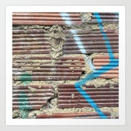 Blue Lighting. Fashion Textures Art Print