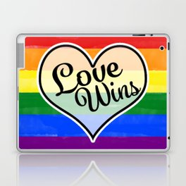 Pride Flag Love is Love-Water Color Graphic  Design  Laptop & iPad Skin