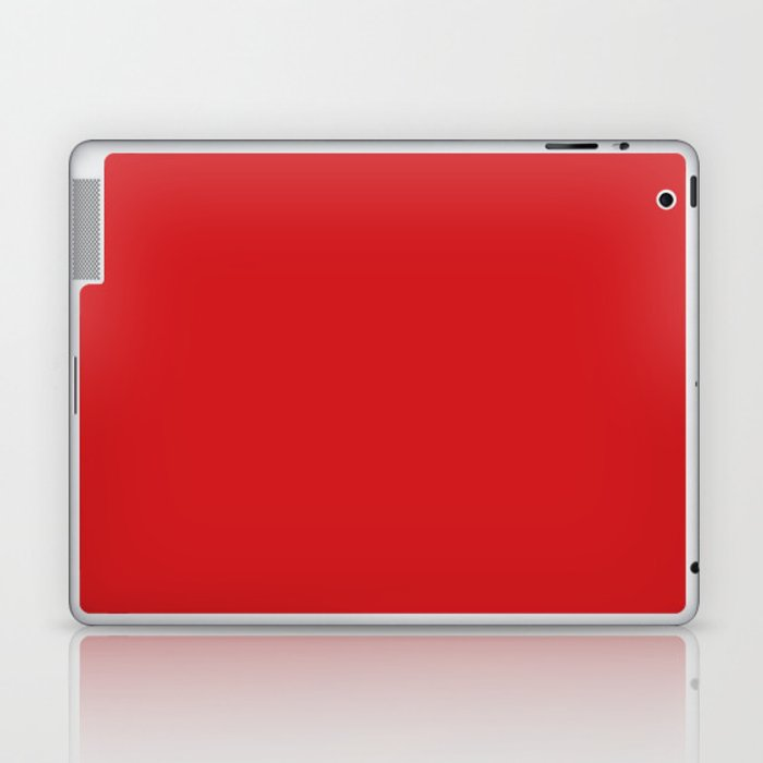 UK London Bus Red - Bright Red Double-Decker Bus Laptop & iPad Skin