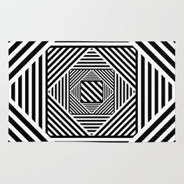B&W Secret Passage Rug