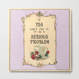 Fixing Tea Metal Print
