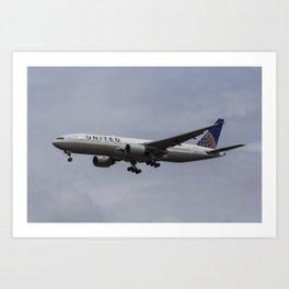 United airlines Boeing 777 Art Print