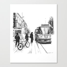 504 Streetcar, Roncesvalles, Toronto Canvas Print