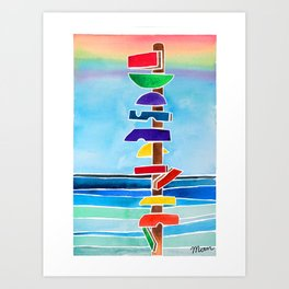 Rhythms at Rainbow Beach Art Print