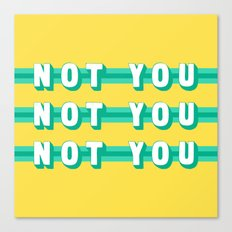 The Fighter, Not You (Rule of Threes) Canvas Print