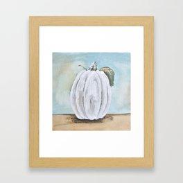 Tall white pumpkin Framed Art Print