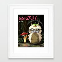 appa Framed Art Prints featuring My Neighbor Appa by ToffeeChu