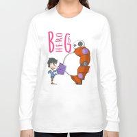 big hero 6 Long Sleeve T-shirts featuring 21 - BIG HERO 6 by Jomp