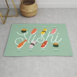 Sushi Kawaii Green Rug