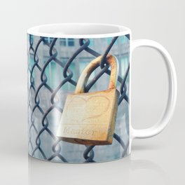 Heart on Lock  Coffee Mug
