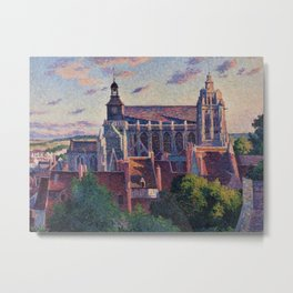 Cathedral at Gisors, View of the Ramparts, Paris, France by Maximilien Luce Metal Print