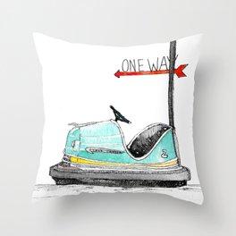 Seaside Skooter Throw Pillow