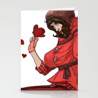 valentina Stationery Cards featuring Be my Valentina by LaurenceBaldetti