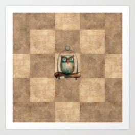 Pathchwork Owl Art Print
