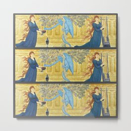 "Edward Burne-Jones ""The Garden of the Hesperides"" Metal Print"