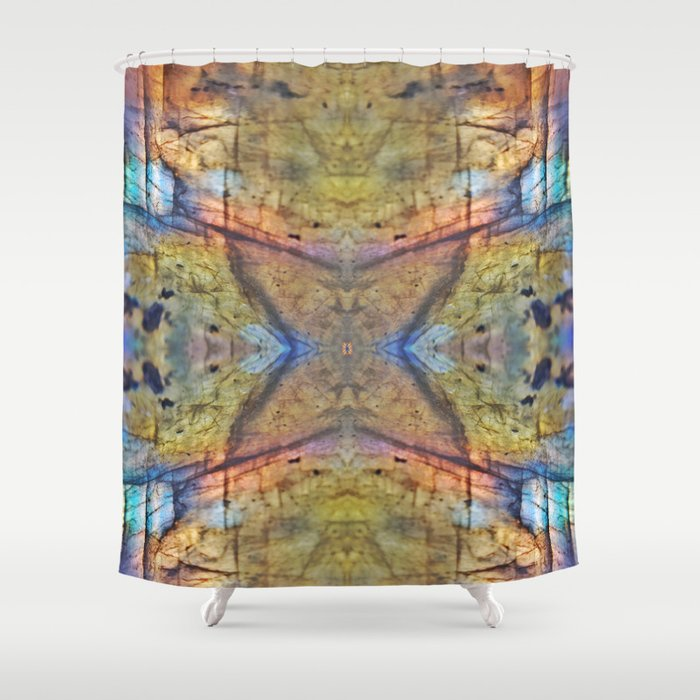 Labradorite Macro Shower Curtain