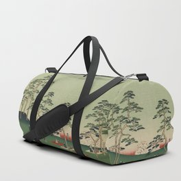 Spring Trees Mountain Ukiyo-e Japanese Art Duffle Bag