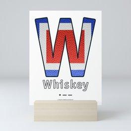 Whiskey - Navy Code Mini Art Print