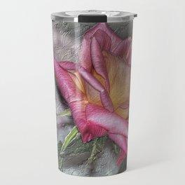 Pink Rose Travel Mug