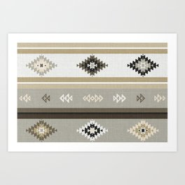 Neutral Kilim Art Print