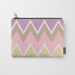 Abstract geometric pattern. Aztec style with triangle and line Carry-All Pouch